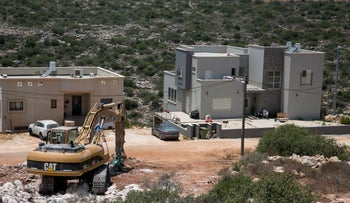 The illegal outpost near Alonei Shiloh in the West Bank, June 27, 2017.