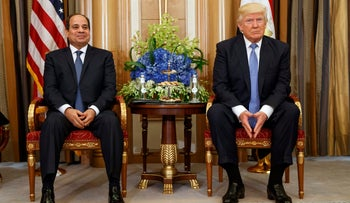 File photo: U.S. President Donald Trump holds a bilateral meeting with Egyptian President Abdel Fattah al-Sisi in Riyadh, May 21, 2017.