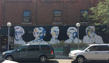 File photo: mural in Ann Arbor, Michigan, August 7, 2014.