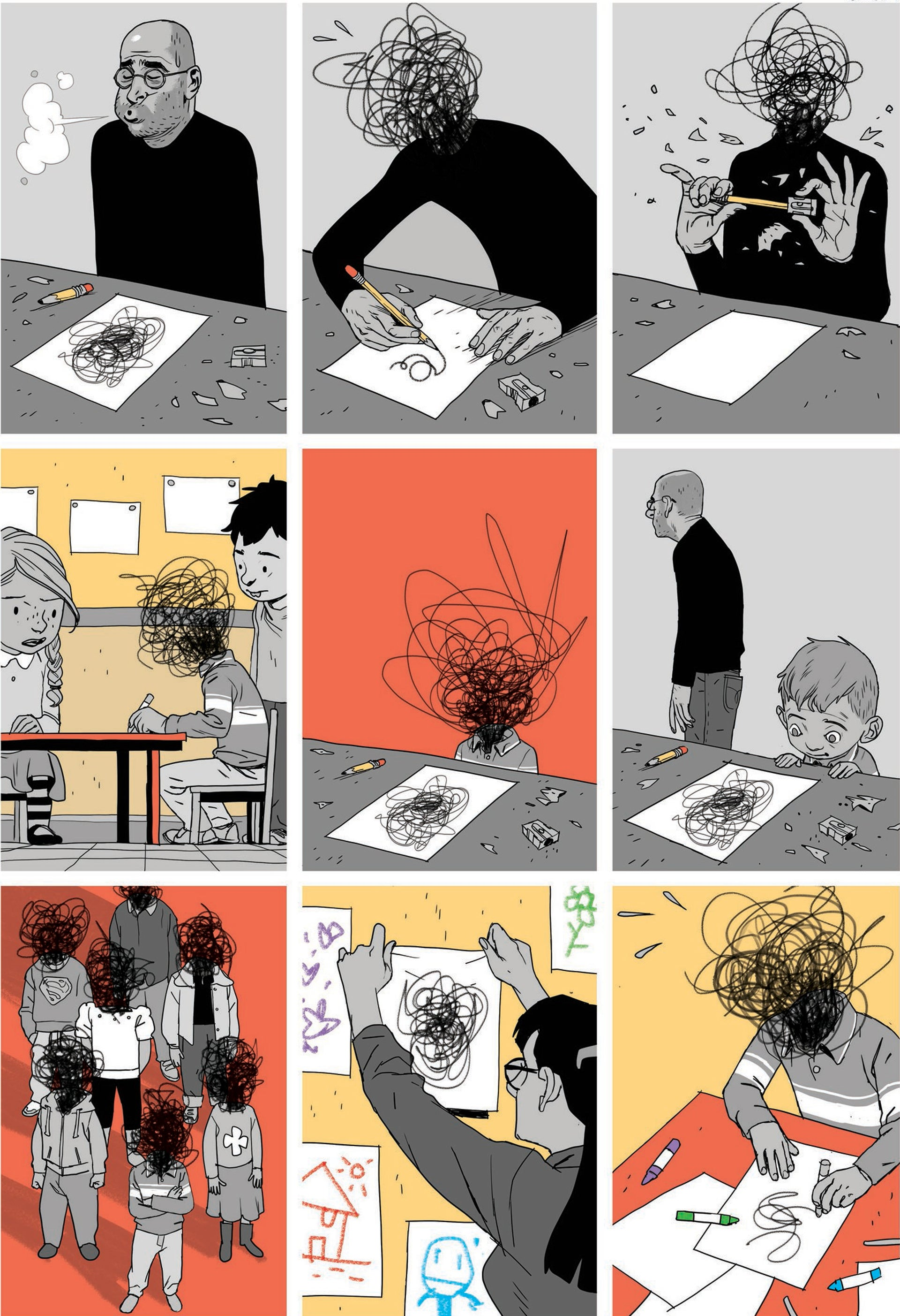 "Asaf Hanuka's autobiographical comic strip ""The Realist."""