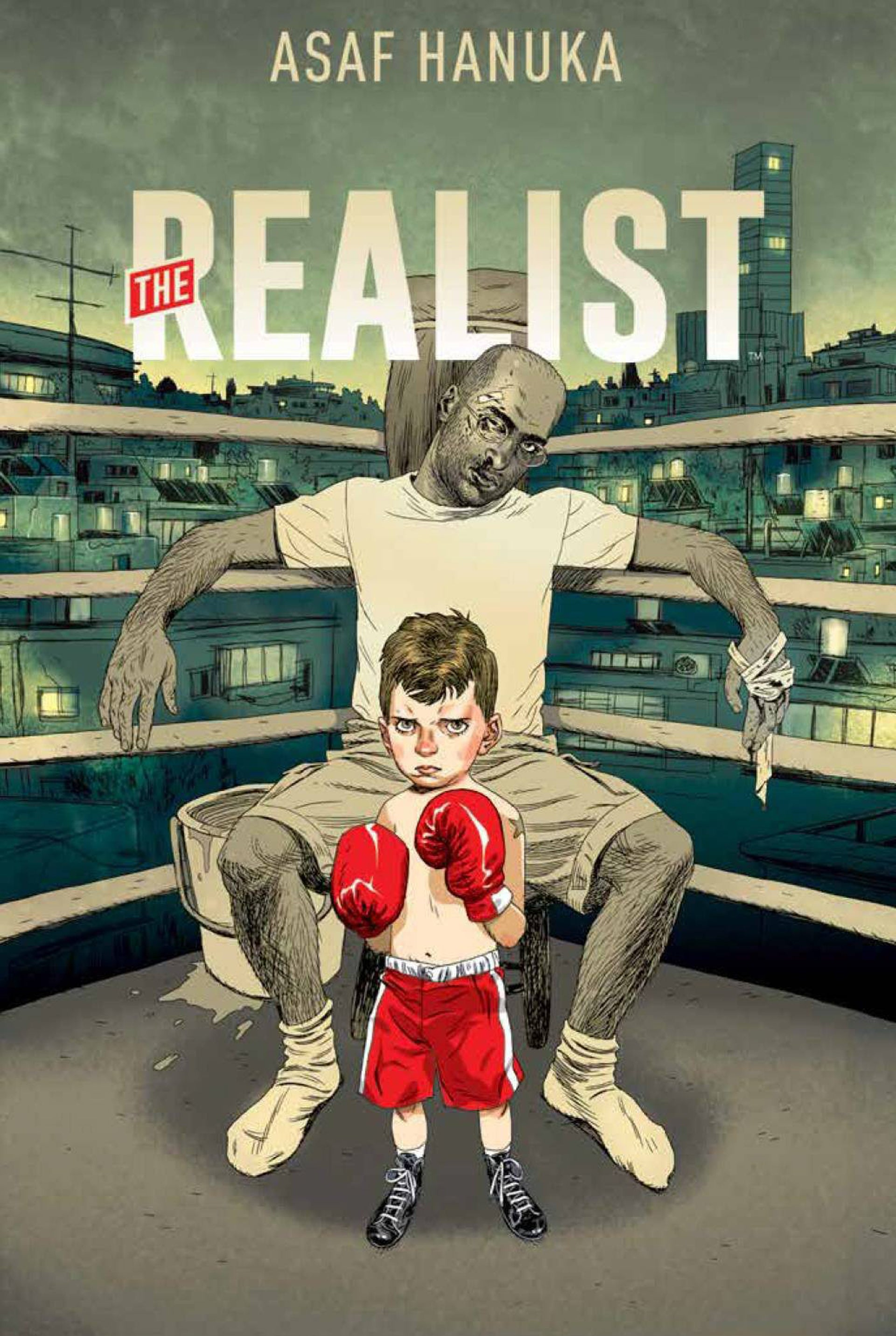 The cover of Asaf Hanuka's book, 'THE REALIST'.