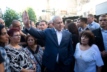 Prime Minister Netanyahu touring south Tel Aviv and meeting with residents on Thursday, August 31, 2017.