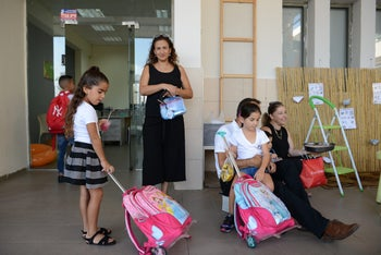 Like every September 1st, Israeli school kids are heading back to school after the summer break ends. 2017.