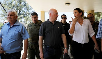 Jason Greenblatt, U.S. President Donald Trump's Middle East envoy, arrives to visit Kibbutz Nahal Oz, just outside the Gaza Strip, in southern Israel, August 30, 2017.