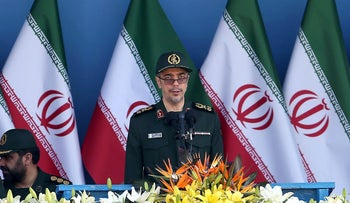 The Iranian armed forces' chief of staff, Maj. Gen. Mohammad Bagheri, at a military parade in Tehran, 2016