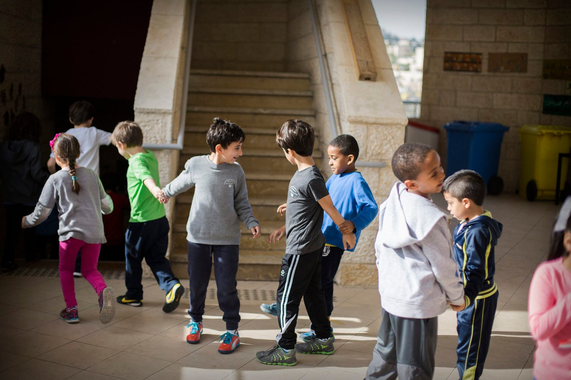 Children play at the Hand in Hand bilingual school in Jerusalem.