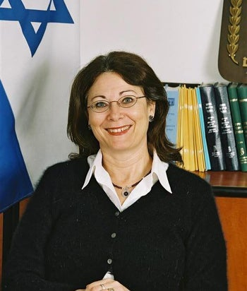 Newly appointed Israeli Supreme Court President Esther Hayut, in a photo from 2016.