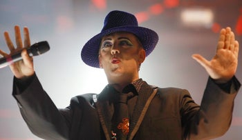 Boy George performing in Tel Aviv in 2011.