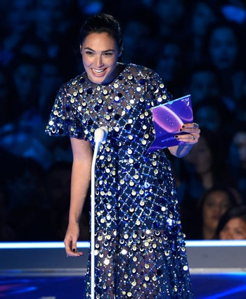 Gal Gadot presents at the MTV Video Music Awards on Sunday, Aug. 27, 2017, in Inglewood, California.