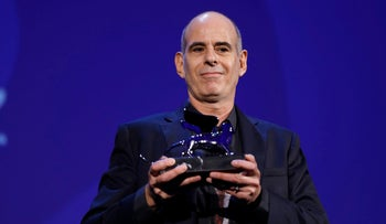 Samuel Maoz is awarded the jury's special Silver Lion prize for 'Foxtrot' during the award ceremony at the 74th Venice Film Festival at the Venice Lido, Italy, Sept. 9, 2017.
