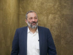 File photo: Shas party leader, Aryeh Deri.