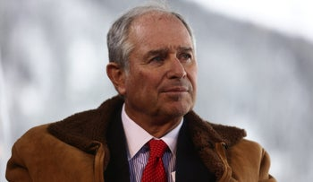 """Stephen """"Steve"""" Schwarzman, billionaire and chief executive officer of Blackstone Group LP, during an interview at the World Economic Forum in Davos, Switzerland on January 20, 2016."""