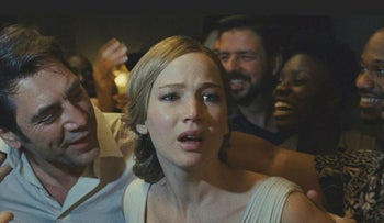 "This image released by Paramount Pictures shows Jennifer Lawrence in a scene from ""mother!"""