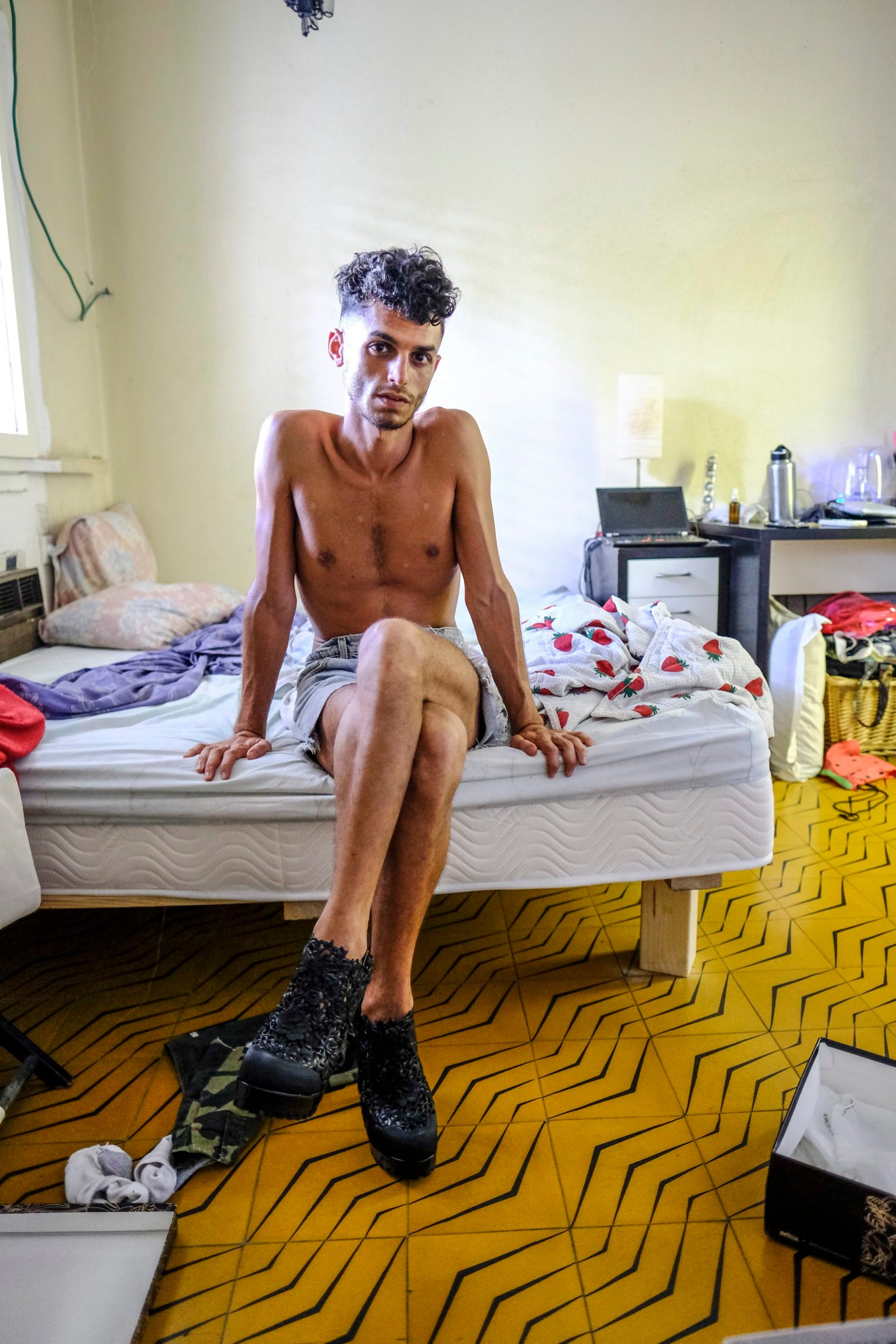 Asis D'Orange at home in Tel Aviv. 'You can also do drag if you're a man in the persona of a man, or a woman in the persona of a woman.'