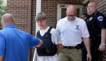 Suspect Dylann Roof in Shelby, North Carolina on June 18, 2015.