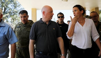 Jason Greenblatt, U.S. President Donald Trump's peace envoy, arrives to visit Kibbutz Nahal Oz, just outside the Gaza Strip, in southern Israel, August 30, 2017.