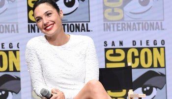 """Gal Gadot attends the Warner Bros. """"Justice League"""" panel on Saturday, July 22, 2017, in San Diego, California."""