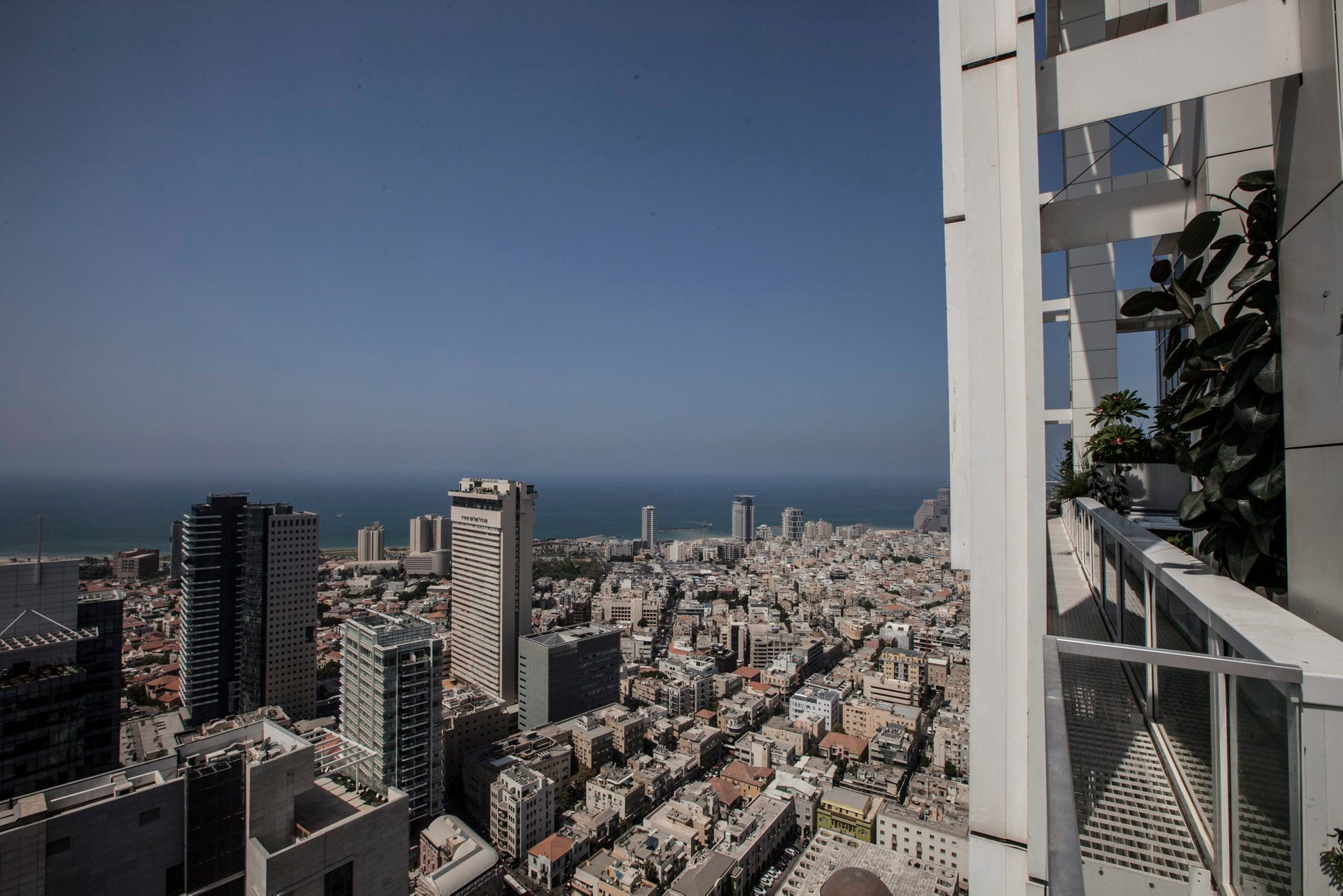 ROOM WITH A VIEW: Looking westward from Richard Meier's Rothschild Tower in Tel Aviv.