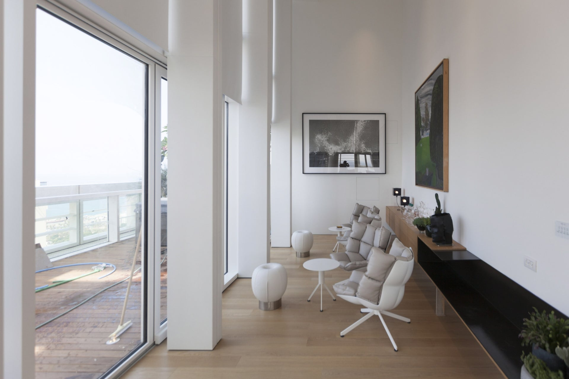 The penthouse apartment in Rothschild Tower, Tel Aviv.