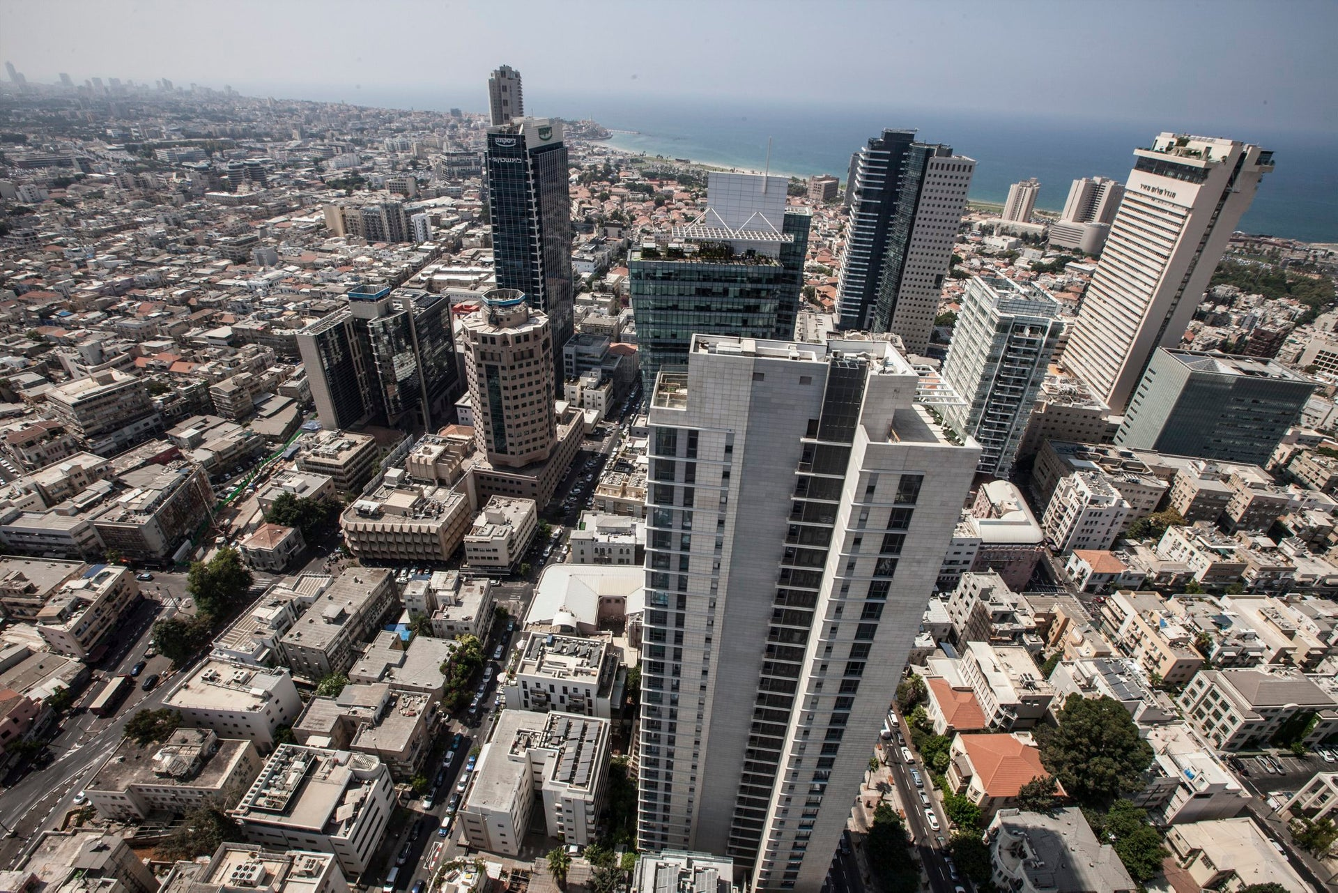 The view of southern Tel Aviv from the tower's penthouse.