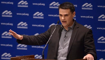 Ben Shapiro addresses the student group Young Americans for Freedom at the University of Utah. September 27, 2017
