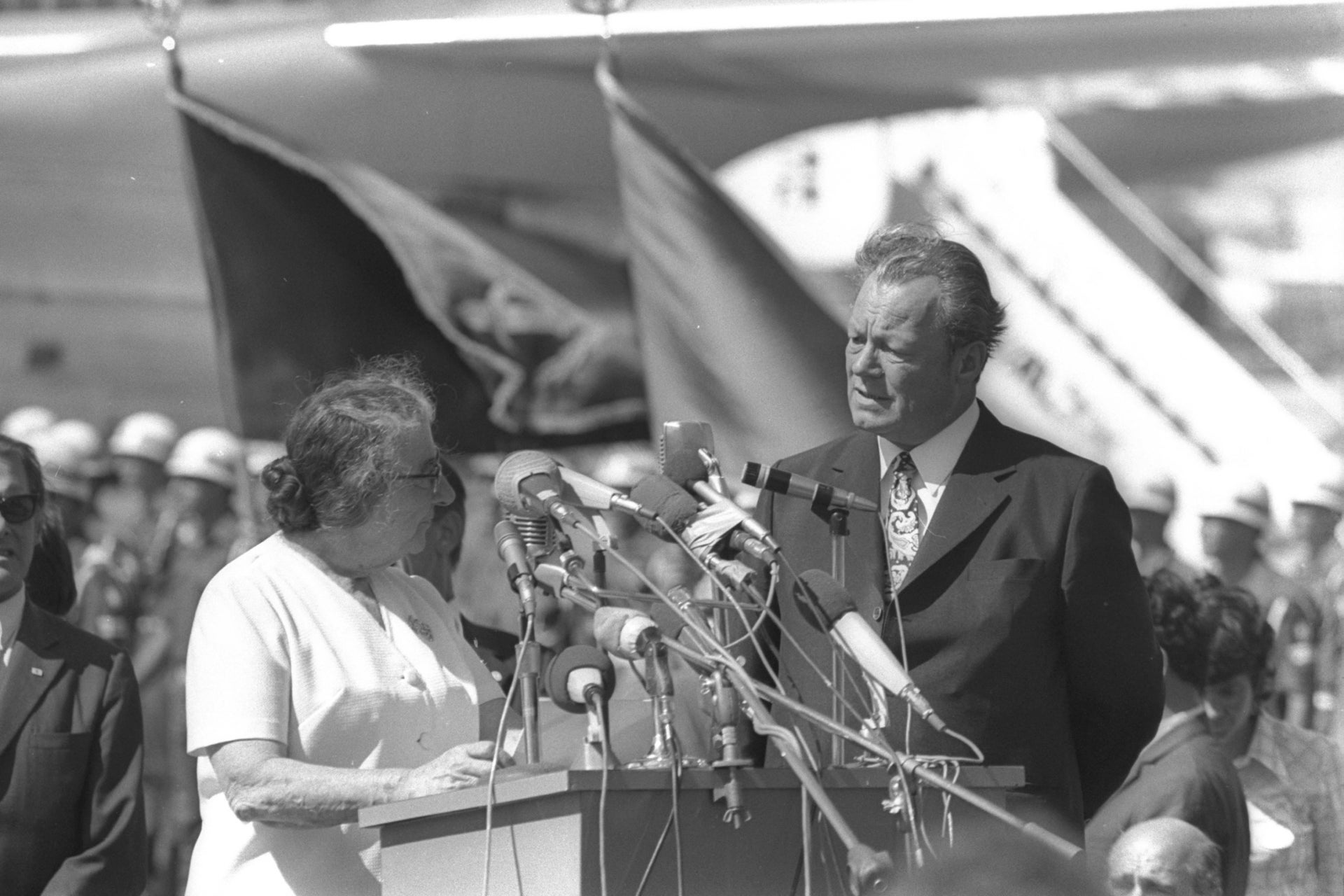 Willy Brandt visits Israel and meets with then Prime Minister Golda Meir