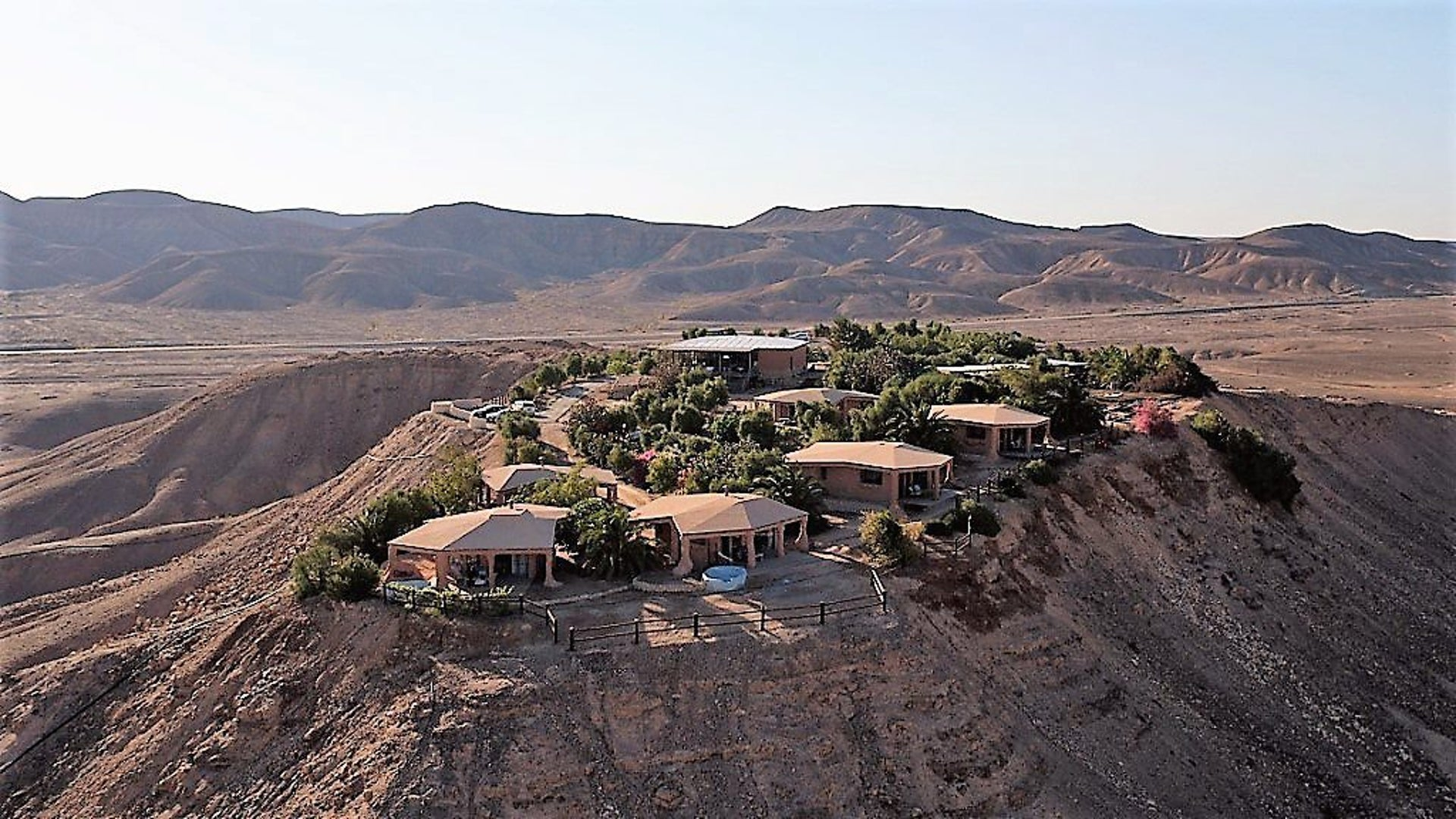Arandal Ranch in the southern Arava Desert, Israel. A former IDF army base.