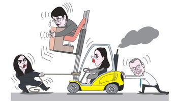 Illustration: Israel's Supreme Court Justice Naor is at the heart of a political drama