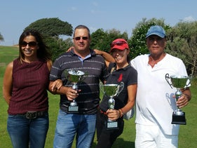 Picture from left to right: Gili Peleg C.E.O. of the Gaash Golf Club, Ashly Silber, Nikita Ben Ami and Amos Aharoni