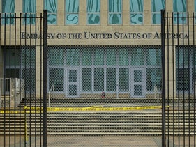 FILE PHOTO A view of the U.S. Embassy in Havana, Cuba, September 29, 2017