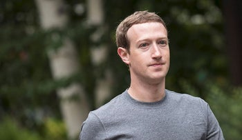 This file photo taken on July 13, 2017 shows Mark Zuckerberg, chief executive officer and founder of Facebook Inc., attending the fourth day of the annual Allen & Company Sun Valley Conference  in Sun Valley, Idaho