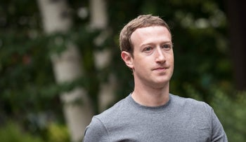 File photo: Facebook founder and CEO Mark Zuckerberg, July 13, 2017