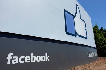 File photo: A sign at Facebook headquarters in Menlo Park, California, July 16, 2013