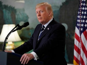U.S. President Donald Trump makes a statement on the mass shooting in Las Vegas at the White House in Washington, October 2, 2017.