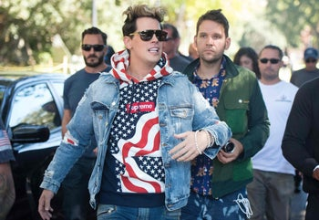 Milo Yiannopolous on the campus of UC Berkeley, September 24, 2017.