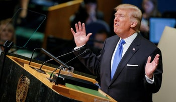 U.S. President Donald Trump addresses the 72nd United Nations General Assembly at UN headquarters in New York, September 19, 2017.
