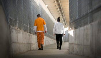 An inmate at Rimonim Prison, near Tel Aviv.