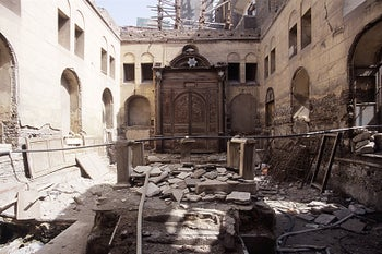 Cairo's Maimonides Synagogue in 2006: Finally, Egypt is 'rid' of its Jews