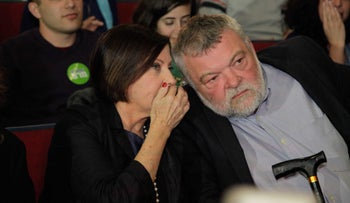 Meretz Chairwoman Zehava Galon with MK Ilan Gilon in 2015.