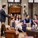 """A scene from season nine of """"Will & Grace,"""" with, from left, Eric McCormack, Debra Messing, Sean Hayes and Megan Mullally."""
