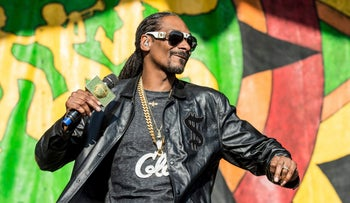 Snoop Dogg performs at the New Orleans Jazz and Heritage Festival in New Orleans, Louisiana, May 6, 2017.