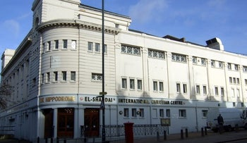 The Golders Green Hippodrome, which might host the Hussainiyat Al-Rasool Al-Adham mosque and Islamic center.