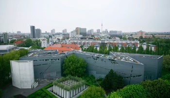 The Jewish Museum by U.S. architect Daniel Liebeskind photographed in Berlin.