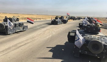 Members of Iraqi federal forces enter oil fields in Kirkuk, Iraq October 16, 2017