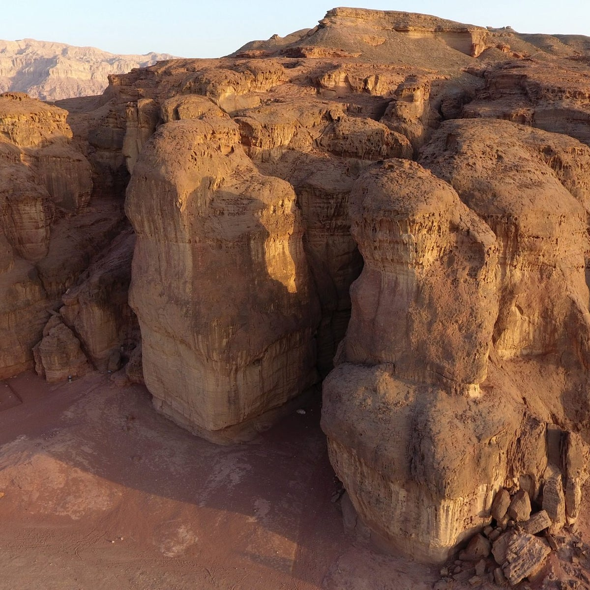The ancient copper mines at Timna