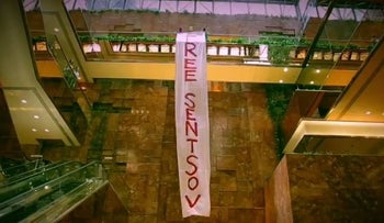Pussy Riot shuts down Trump tower with protest over political prisoners