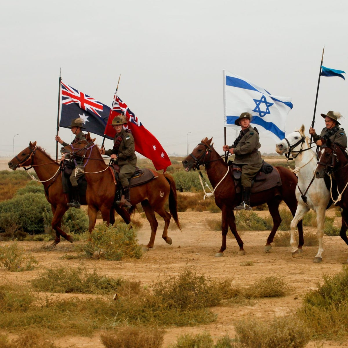 The reenactment marking 95 years in 2012.