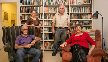 Residents of a community housing project for the elderly in Tel Aviv.