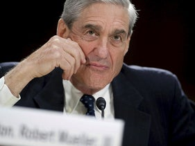 This file photo taken on June 19, 2013 shows then Federal Bureau of Investigation (FBI) Director Robert Mueller testifying before the US Senate Judiciary Committee on oversight during a hearing on Capitol Hill in Washington, DC