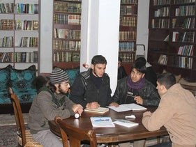 The library in Daraya, Syria.